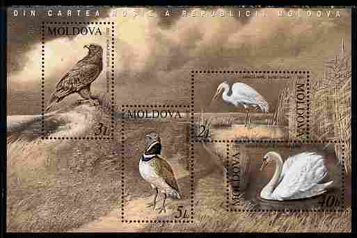 Moldova 2003 Birds perf m/sheet unmounted mint SG MS 481