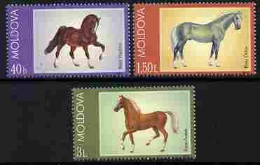 Moldova 2002 Horses perf set of 3 unmounted mint SG 439-41
