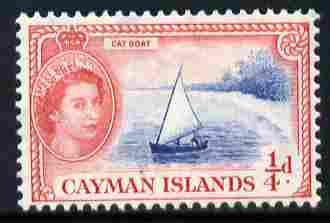 Cayman Islands 1953-62 Cat Boat 1/4d (from def set) unmounted mint, SG 148