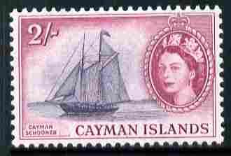 Cayman Islands 1953-62 Ziroma (schooner) 2s (from def set) unmounted mint, SG 159