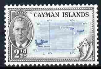 Cayman Islands 1950 KG6 Map 2.5d unmounted mint, SG 140