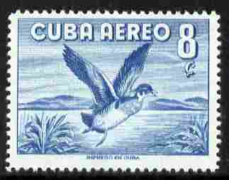 Cuba 1956 Wood Duck 8c blue (from Air set) unmounted mint SG 772