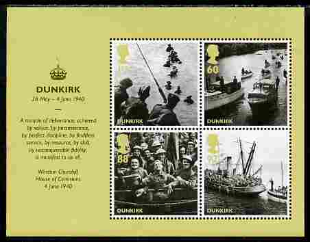 Great Britain 2010 Dunkirk 70th Anniversary m/sheet unmounted mint