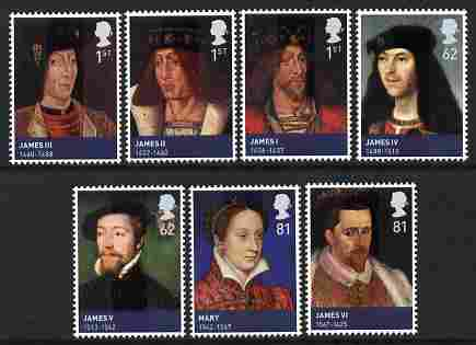Great Britain 2010 The House of Stewart perf set of 7 unmounted mint