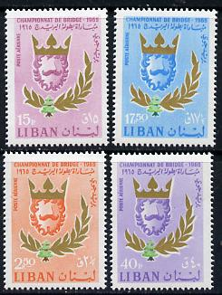 Lebanon 1965 World Bridge Championships set of 4, SG 902-5*
