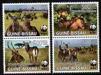Guinea - Bissau 2008 WWF - Kobus perf set of 4 vaues unmounted mint Michel 2626-49