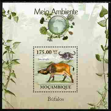 Mozambique 2010 The Environment - Buffalo perf souvenir sheet unmounted mint Michel BL 302