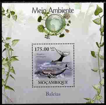 Mozambique 2010 The Environment - Whales perf souvenir sheet unmounted mint Michel BL 312
