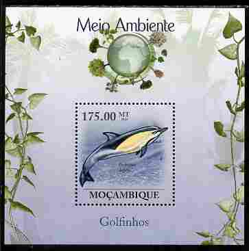 Mozambique 2010 The Environment - Dolphins perf souvenir sheet unmounted mint Michel BL 311