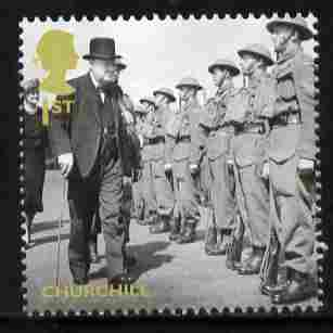 Great Britain 2010 Churchill Inspecting the Troops 1st Class value from Britain Alone set unmounted mint