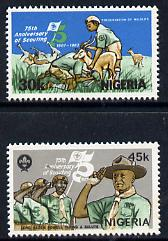 Nigeria 1982 Scouts Anniversary set of 2, SG 429-30 unmounted mint*