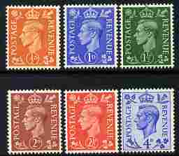 Great Britain 1950-52 KG6 colours changed set of 6 unmounted mint SG 503-8