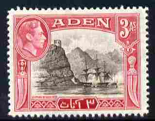 Aden 1939-48 KG6 Capture of Aden 3a sepia & carmine unmounted mint SG 22