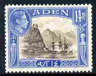 Aden 1939-48 KG6 Capture of Aden 14a sepia & blue unmounted mint SG 23a