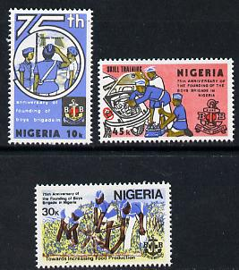 Nigeria 1983 Boys Brigade 75th Anniversary set of 3 unmounted mint, SG 463-65*