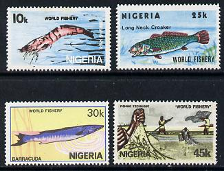 Nigeria 1983 World Fisheries set of 4, SG 459-62 unmounted mint*