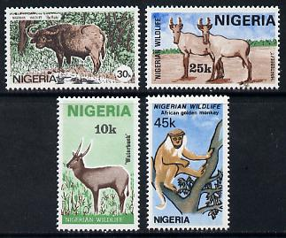 Nigeria 1984 Nigerian Wildlife set of 4 unmounted mint, SG 469-72*