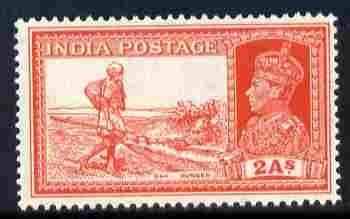 India 1937-40 KG6 Dak Runner 2a unmounted mint SG 251