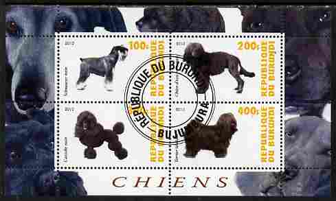 Burundi 2010 Dogs #6 perf sheetlet containing 4 values fine cto used