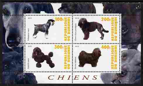 Burundi 2010 Dogs #6 perf sheetlet containing 4 values unmounted mint