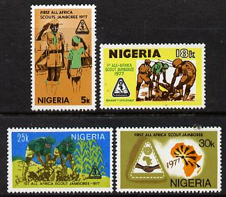 Nigeria 1977 First All-Africa Scout Jamboree set of 4 unmounted mint, SG 369-72*