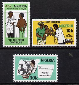 Nigeria 1982 Robert Koch's Discovery of Tubercle Bacillus set of 3 unmounted mint, SG 431-33*