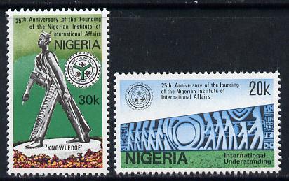 Nigeria 1986 International Affairs set of 2 unmounted mint, SG 537-38