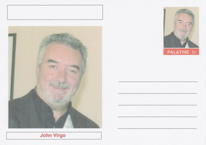 Palatine (Fantasy) Personalities - John Virgo (snooker) postal stationery card unused and fine