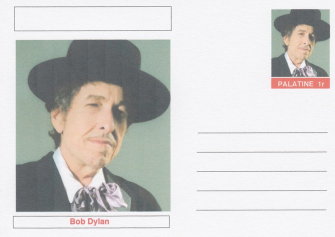 Palatine (Fantasy) Personalities - Bob Dylan postal stationery card unused and fine