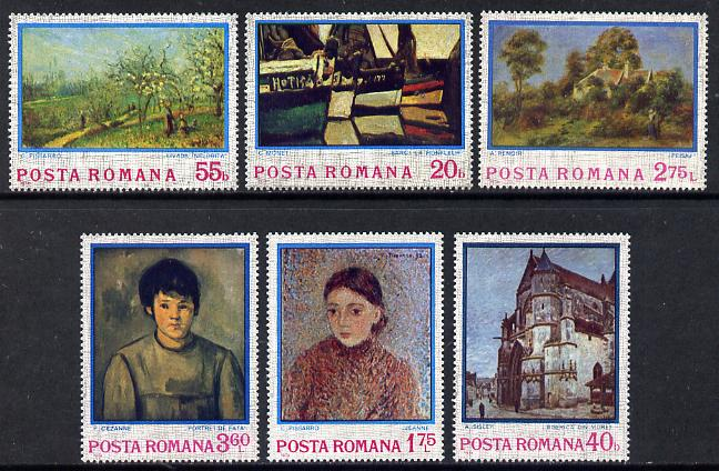 Rumania 1974 Impressionist Paintings set of 6 unmounted mint, SG 4056-61, Mi 3175-80