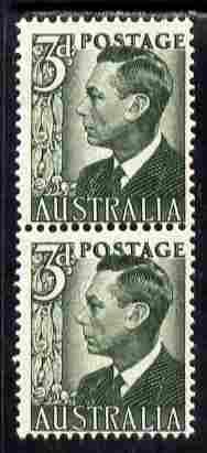 Australia 1959-63 King George 6th 3d coil pair unmounted mint, SG 327da