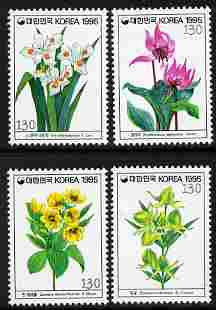 South Korea 1995 Flowers - 6th series perf set of 4 unmounted mint SG 2162-5