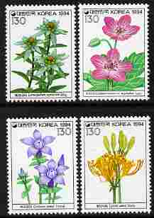 South Korea 1994 Flowers - 5th series perf set of 4 unmounted mint SG 2133-6