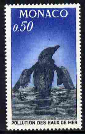 Monaco 1971 Campaign Against Pollution of the Sea (Razorbill) unmounted mint SG 1008