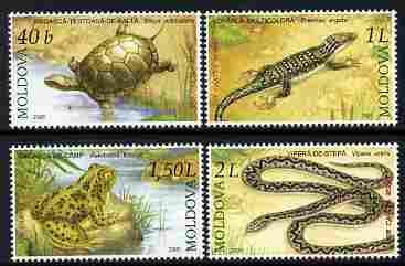 Moldova 2005 Reptiles & Amphibians perf set of 4 values unmounted mint, SG 519-22