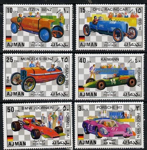 Ajman 1971 German Racing Cars set of 6 unmounted mint, Mi 1117-22