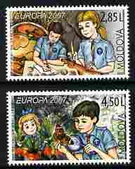 Moldova 2007 Europa - Scouting perf set of 2 unmounted mint, SG 574-5