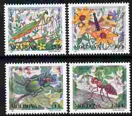 Moldova 1997 Insects in the Red Book perf set of 4 unmounted mint, SG 250-3