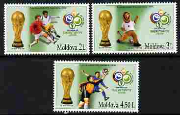 Moldova 2006 Football World Cup perf set of 3 unmounted mint, SG 544-6