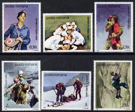 Rumania 1989 Life-Saving Services set of 8 unmounted mint, Mi 4530-37
