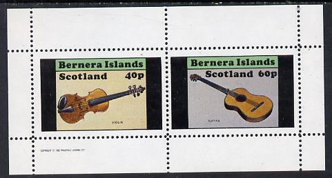 Bernera 1982 Musical Instruments perf set of 2 values (40p violin & 60p guitar) unmounted mint