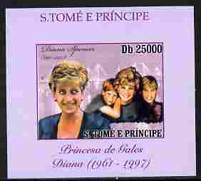 St Thomas & Prince Islands 2010 Diana Princess of Wales #3 with the Princes individual imperf deluxe sheet unmounted mint. Note this item is privately produced and is offered purely on its thematic appeal