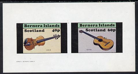 Bernera 1982 Musical Instruments imperf set of 2 values (40p violin & 60p guitar) unmounted mint