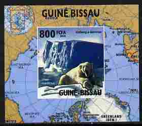 Guinea - Bissau 2010 Global Warming #2 - Polar Bear individual imperf deluxe sheet unmounted mint. Note this item is privately produced and is offered purely on its thematic appeal
