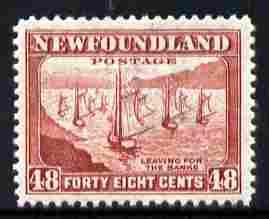 Newfoundland 1941-44 KG6 Fishing Fleet 48c unmounted mint, SG 289