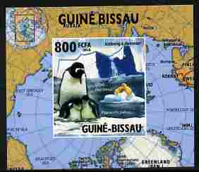 Guinea - Bissau 2010 Global Warming #5 - Penguin individual imperf deluxe sheet unmounted mint. Note this item is privately produced and is offered purely on its thematic appeal