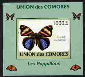 Comoro Islands 2009 Butterflies #1 individual imperf deluxe sheet unmounted mint. Note this item is privately produced and is offered purely on its thematic appeal, it has no postal validity