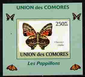 Comoro Islands 2009 Butterflies #2 individual imperf deluxe sheet unmounted mint. Note this item is privately produced and is offered purely on its thematic appeal, it has no postal validity