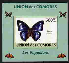 Comoro Islands 2009 Butterflies #3 individual imperf deluxe sheet unmounted mint. Note this item is privately produced and is offered purely on its thematic appeal, it has no postal validity