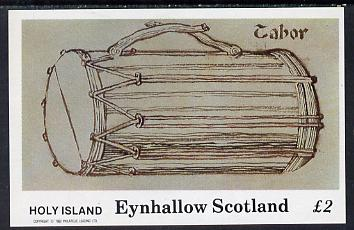 Eynhallow 1982 Early Musical Instruments (Tabor) imperf deluxe sheet (�2 value) unmounted mint